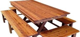 Wooden Outdoor Table Bench Timber Furniture Tables Chairs And Bar Round Outside