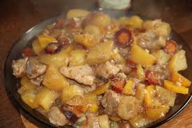 cuisiner un sauté de porc saute de porc au cidre du jardin et du marché à l assiette et à