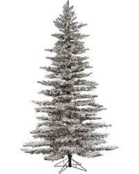 75ft Pre Lit Artificial Christmas Tree Flocked Wyoming Snow Pine