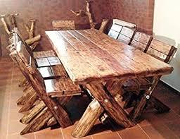 casa padrino esszimmer set rustikal tisch 6 stühle