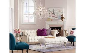 A romantic living room inspired by posh Parisian furniture and