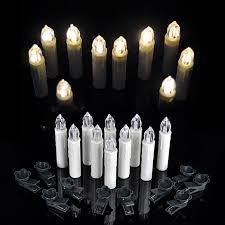 10PCS LED Flameless Christmas Tree Wedding Electric Candle Lights