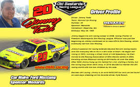 20 Jimmy Todd Driver Profile - Old Bastards Racing League