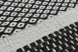 theko woven carpet stiff scandi chic design gray