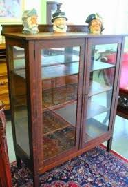 Antique China Cabinet With Glass Doors Remodel Ideas Oak Curio