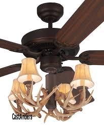 standard size fans 52 lodge 4 light antler ceiling fan rustic