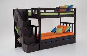 Keystone Stairway Bunk Bed With Storage Trundle Unit