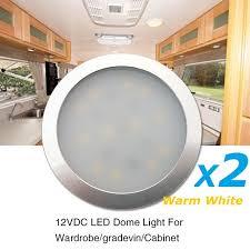 2x12v warm white led cabinet light aluminum silver shell