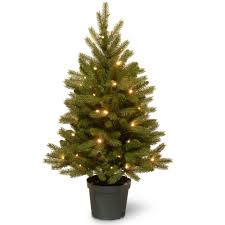 3 Ft Jersey Fraser Fir Artificial Christmas Tree With Battery Operated