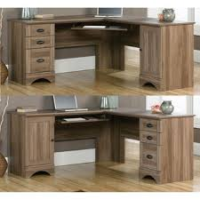 Sauder Harbor View Dresser Salt Oak by Sauder Contemporary Harbor View Salt Oak L Shaped Corner Office