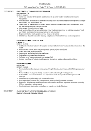 Freight Broker Resume Samples | Velvet Jobs