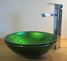 nero badshop aufsatz glas waschbecken antik grün 31cm