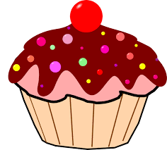 Birthday cupcakes clipart