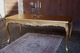 tisch für esszimmer oder büro 200x90cm komplett edel vergoldet