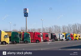 100 Area Trucks Vehlefanz Germany Trucks On A Highway Rest Area Stock Photo