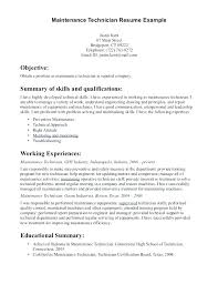 Electrical Maintenance Technician Resume Sample Industrial