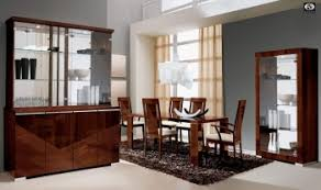 Extendable Rectangular In Wood Top With Fabric Seats Modern Dining Set