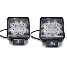 rolinger 2pcs 5 inch spot beam square 27w led work light bar high