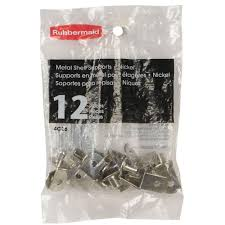 Rubbermaid Storage Cabinets Home Depot by Rubbermaid Nickel Shelf Support Clips 12 Pack Fg4c2601nickl