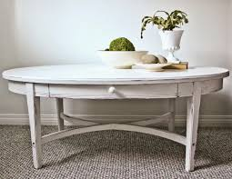 sweet tree furniture oval coffee table with drawer