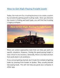 How To Get High-Paying Freight Loads By Loadboardcanada - Issuu Amazon Is Secretly Building An Uber For Trucking App Setting Its Freight Operators Dmiss Threat Of Digital Startups Wsj 10 Steps To Becoming Owner Operator Mile Markers Broker Boot Camp Home Facebook Adding A Brokerage Dat 6 Lead Generation Tips Brokers Infographic Broker Traing School Truck Brokerage License Classes Dr Dispatch Software Easy Use Trucking And Traing Information Blog In It Win How Become A In Florida Online Course Much Do Freight Brokers Make Per Load Youtube