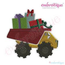Embroitique Dump Truck With Gifts Filled Embroidery Design Personalized Birthday Dump Truck Applique Shirt Or Bodysuit Girl Boy Valentines Day With Hearts Boyss Tow Machine Embroidery Design Blue Green Boy Christmas Mardi Gras Crimson Football Dumptruck Little 2 Dump Truck Applique Etsy Shamrock Saint Patricks Embroitique Gifts Filled For