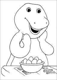 Barney Shocked Coloring Pages For Kids Printable