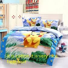 Cotton Pokemon Cartoon Bedding Set Christmas Gift Kids Pikachu