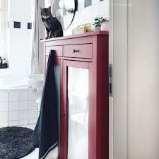 badezimmer mit unserem hemnes wäscheschrank ikea