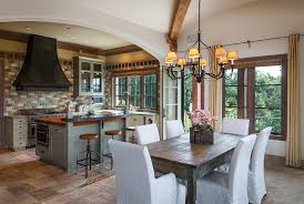 Rustic Italian Style Kitchen With Open Plan Design