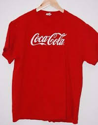 Coca Cola Coke Classic Red T Shirt Size Large