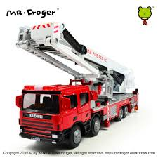 100 Model Fire Trucks KDW Diecast Platform Engine Ladder Alloy Car