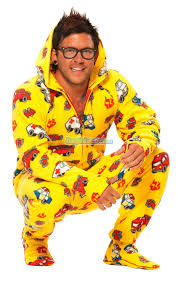 100 Fire Truck Pajamas Yellow S Hooded Footed Footie PJs