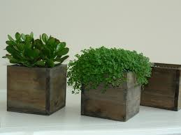 Wood Box Boxes Woodland Planter Flower Rustic Pot Square Vases For Wedding Wooden Chic