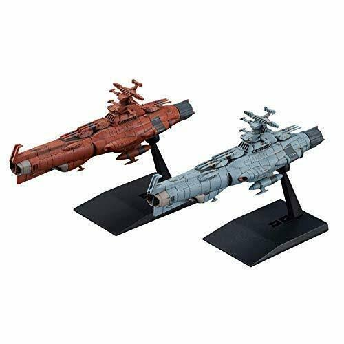 Space Battleship Yamato 2202 Mecha Collection Earth Federation Flagship Battleship Model Scale Set - 2pc