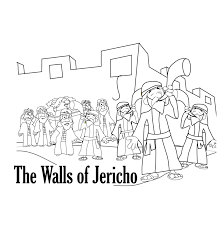 Walls Of Jericho Coloring Page Here Is A For Battle