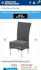esszimmerstuhl 4 stühle stuhl rattan grau weiß