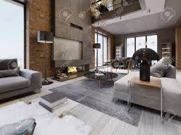 100 Interior Design High Ceilings Modern Loft Living Room With High Ceiling Sofa Red Brick Wall