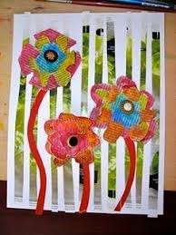 The Real Focus Being Vertical Or Horizontal Lines And Color Either Warm Cool Painted Newspaper Flowers