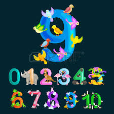 Ordinal Numbers 9 For Teaching Children Counting Nine Birdies With The Ability To Calculate Amount Animals