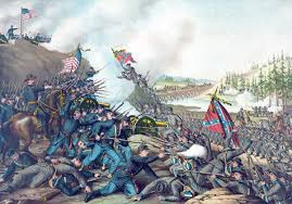 The Battle Of Franklin Tennessee Depicted In A Lithograph Published 1891