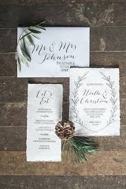 Winter Wedding Invitations Picture Of Contemporary In Neutrals With Black Calligraphy And A