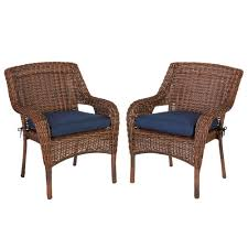 Hampton Bay Cambridge Brown Wicker Outdoor Dining Chair With Blue ... Cantik Gray Wicker Ding Chair Pier 1 Rattan Chairs For Trendy People Darbylanefniturecom Harrington Outdoor Neptune Living From Breeze Fniture Uk Corliving Set Of 4 Walmartcom Orient Express 2 Loom Sand Rope Vintage Weng With Seats By Martin Visser For T Amazoncom Christopher Knight Home 295968 Clementine Maya Grey Wash With Cushion Simply Oak Practical And Beautiful Unique Cane Ding Chairs Garden Armchair Patio Metal