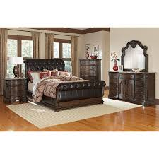 Value City Furniture Twin Headboard by Monticello Queen Sleigh Bed Pecan Value City Furniture