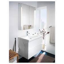 storjorm spiegelschrank m 2 türen int bel weiß 80x14x96 cm