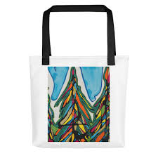 Stain Glass Christmas Tree Tote Bag