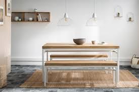 design bank boho aus mangoholz und weißem metall 140 cm
