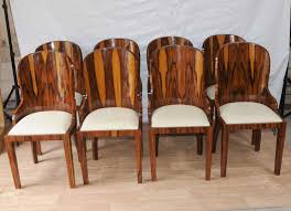 Set Art Deco Dining Chairs Rosewood Furniture 1920s Interiors