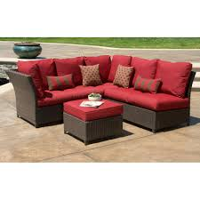 Red Patio Furniture Decor by Outdoor Sectional Sofa Set Cabo Outdoor Wicker Sectional Sofa Set