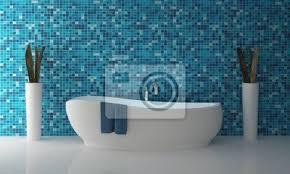 fototapete badezimmer blau